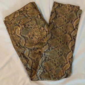 NY&Co Gold Snake print Skinny ankle jeans - 10